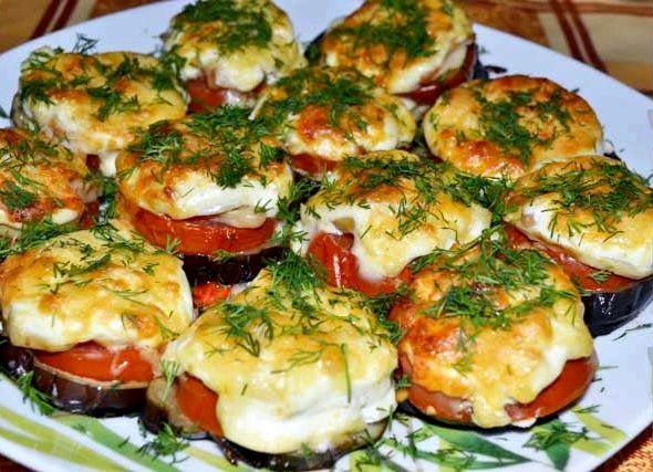 Баклажаны с помидорами в духовке рецепты с фото пошагово