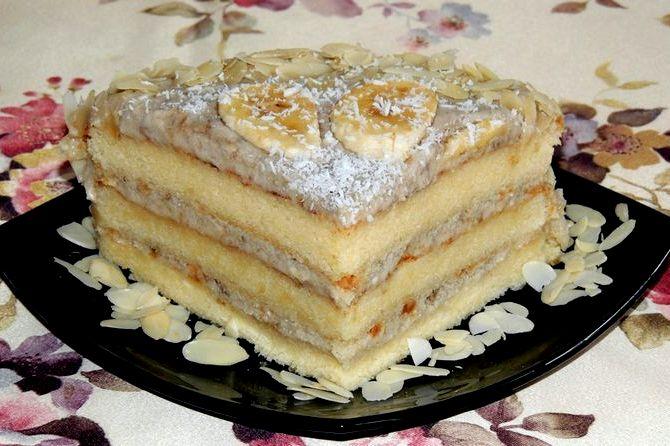 Рецепт банановый торт с фото