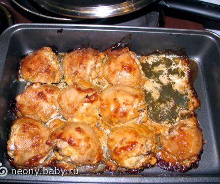 Бедра куриные в духовке рецепт с фото