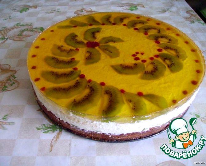 Бисквитный торт с фруктами и желе рецепт с фото