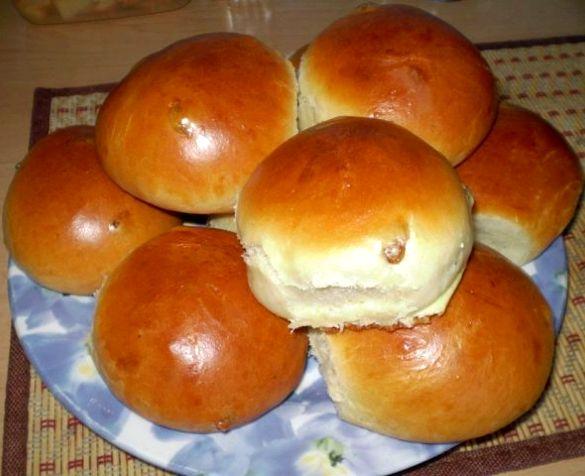 Булочки на кефире без дрожжей в духовке рецепт с пошагово