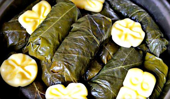 Долма из свежих виноградных листьев рецепт по-армянски