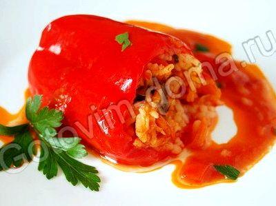Фаршированный овощами перец рецепт с фото