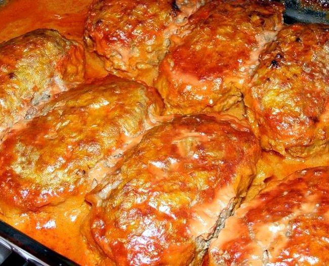 голубцы диетические в духовке рецепт с фото