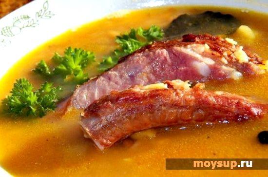 суп из копченых ребрышек рецепт с фото без гороха