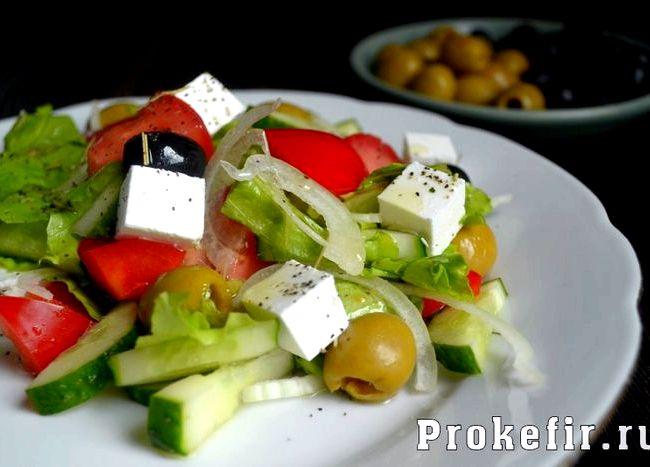 Греческий салат рецепт классический с фото пошагово