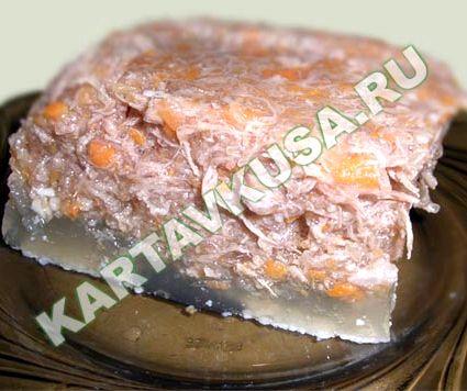 Холодец рецепт с фото пошагово с желатином