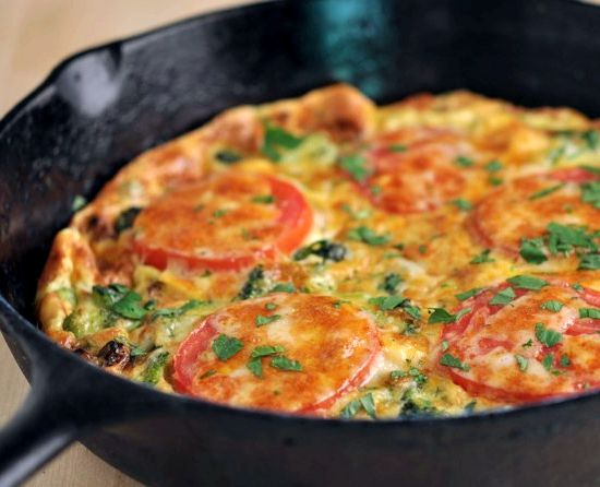 Яичница с помидорами и сыром рецепт с фото