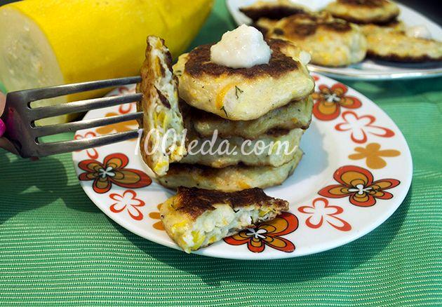 Оладьи из кабачков на кефире рецепты с фото пошагово