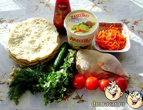 шаурма в домашних условиях с курицей рецепт с фото пошаговый рецепт с фото