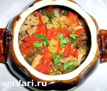 Картофель с мясом в духовке рецепт с фото в горшочках