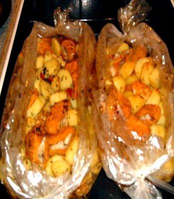 рецепт запекания картошки в духовке в пакете для запекания