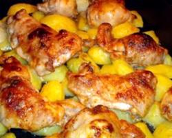 Картошка в рукаве в духовке рецепт с фото с курицей