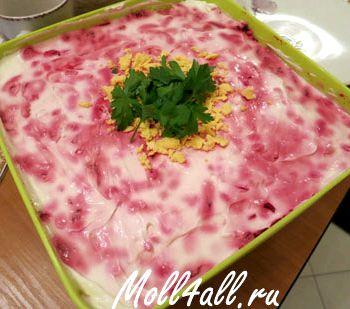Классический рецепт салат сельдь под шубой