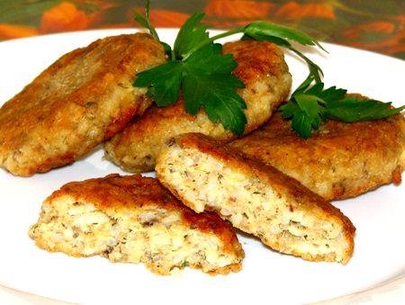 котлеты из рыбных консервов с рисом рецепт пошагово