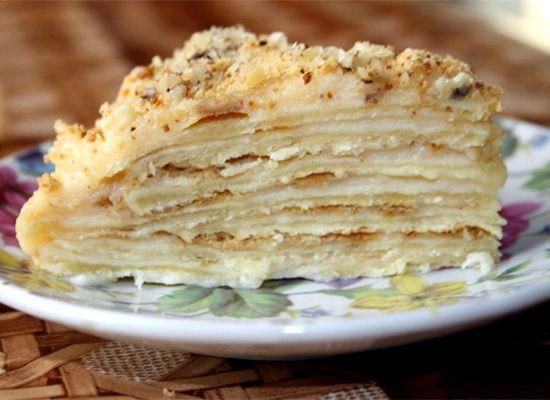 Торт наполеон пошаговый рецепт на сковороде с фото