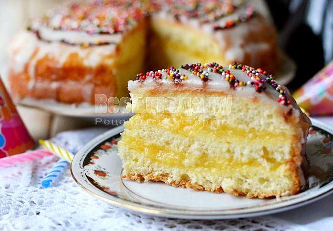 Крем для лимонного бисквита рецепт пошагово