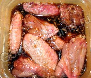 куриные крылышки в соевом соусе в духовке рецепт с фото