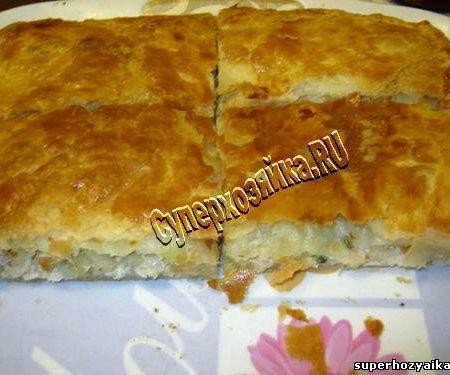 пирог с мясом и картошкой в духовке из сдобного теста