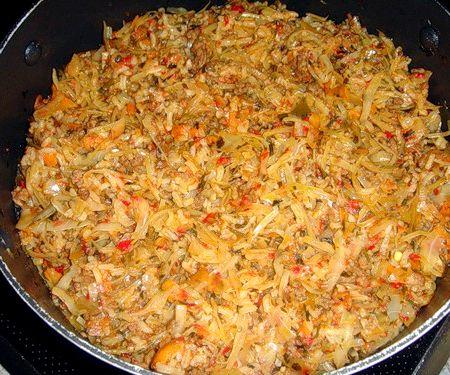 ленивые голубцы в кастрюле с рисом рецепт с фото пошагово