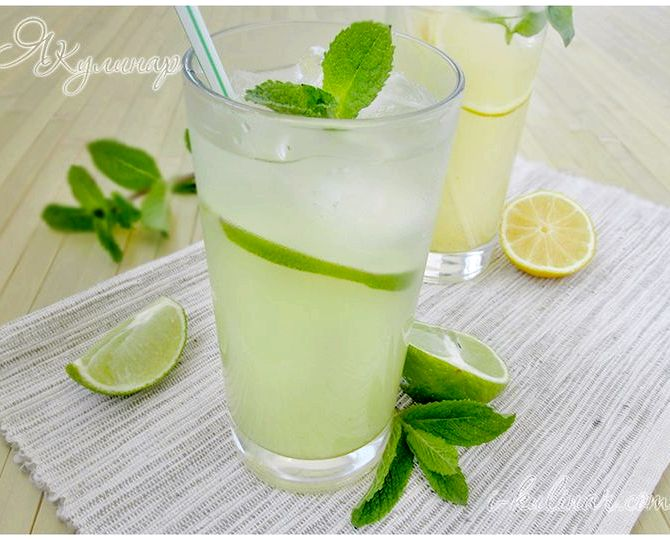 Лимонад с мятой лимоном в домашних условиях