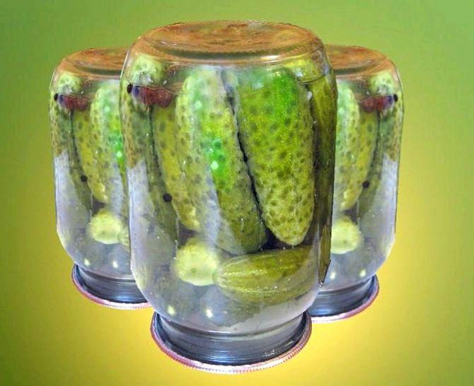 Маринованные огурцы рецепт на зиму хрустящие с лимонной кислотой