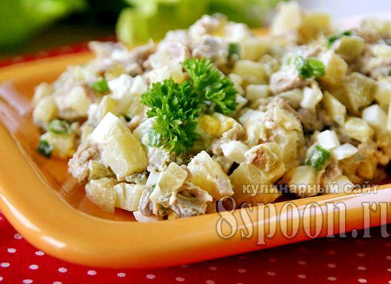 легкий салат к мясу рецепт с фото