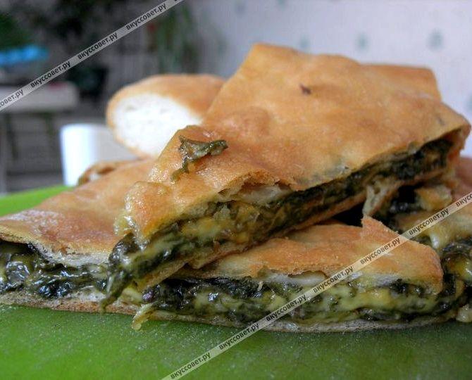 Осетинский пирог со свекольной ботвой рецепт пошагово с фото