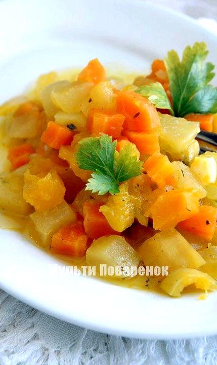 овощное рагу мясо с кабачками и картошкой рецепт с фото