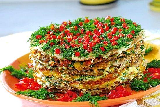 печеночный торт из куриной печени рецепт пошагово