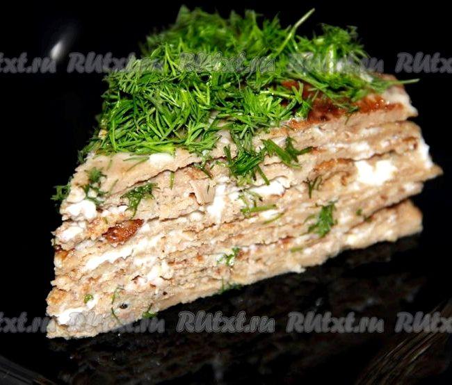 торт печеночный с куриной печени вкусный рецепт с фото