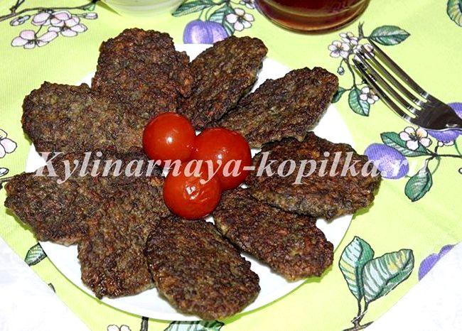 Печёночные котлеты из говяжьей печени рецепт пошагово с фото