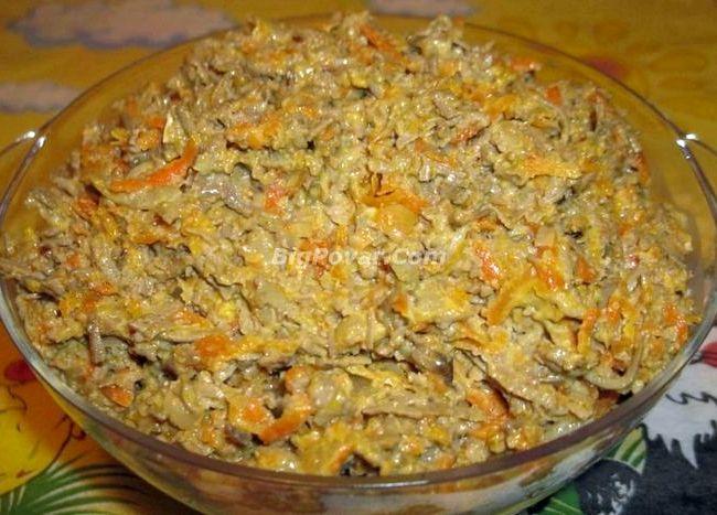 салат печеночный салат рецепт с фото пошагово