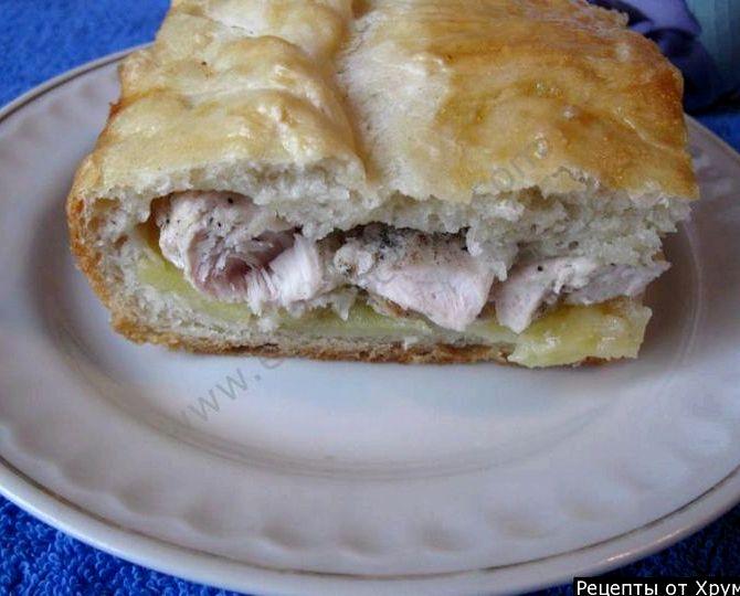 тесто на кефире для пирога с курицей рецепт
