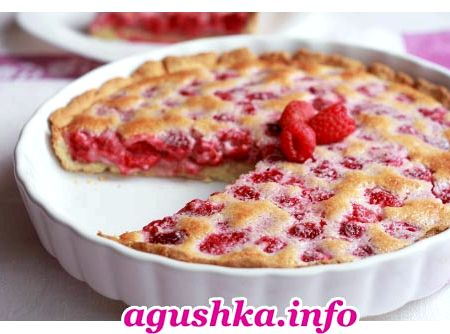 Пирог со свежей малиной рецепт с фото