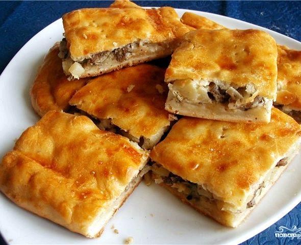 пирог с мясом и картошкой в духовке рецепт с фото