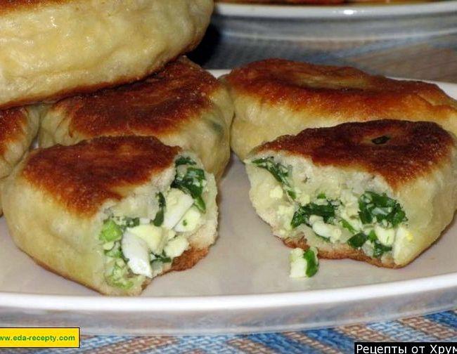 Пирожки с яйцом и зеленым луком жареные на сковороде рецепт на