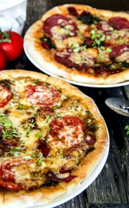 рецепты пиццы в домашних условиях из бездрожжевого теста в духовке