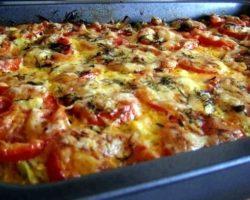 Рецепт из кабачков с фаршем и помидорами в духовке рецепт с фото