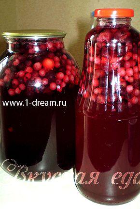 Рецепт компота из смородины красной на зиму