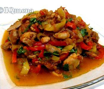 Рецепт курица с овощами тушеная с овощами