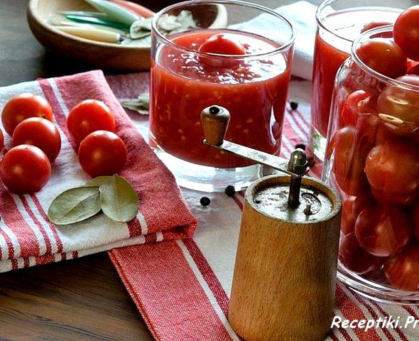 Рецепт помидоры в собственном соку рецепт на зиму без стерилизации
