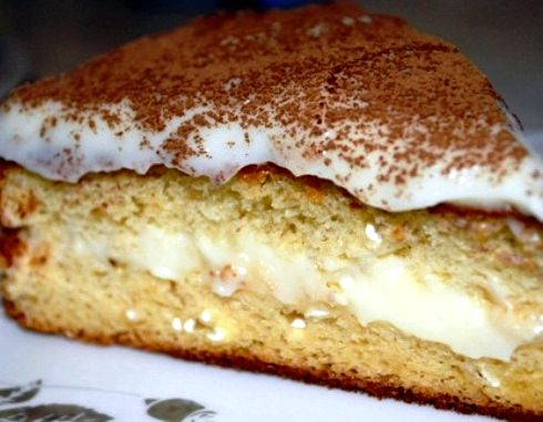Рецепт с фото бисквитный торт с заварным кремом