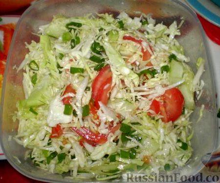 рецепт салат из капусты свежий рецепт