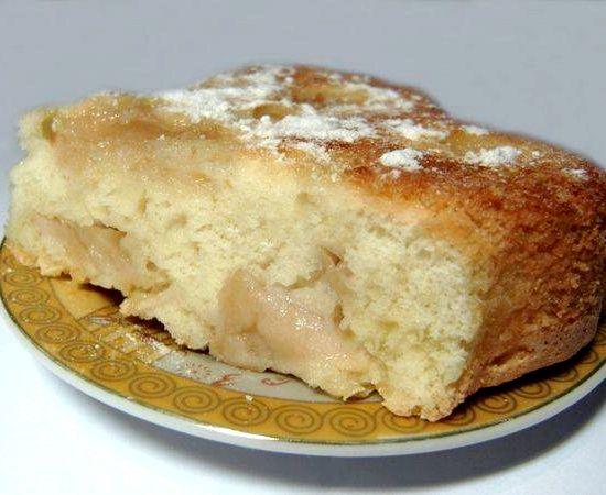 Шарлотка с яблоками рецепт с маргарином фото пошагово