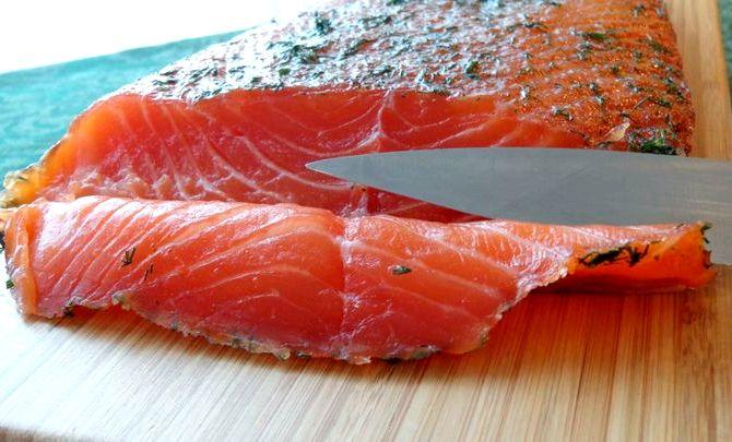 слабосоленая красная рыба в домашних условиях рецепт с фото
