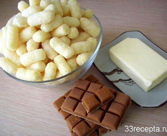 Кукурузные палочки со сгущенкой рецепт с фото