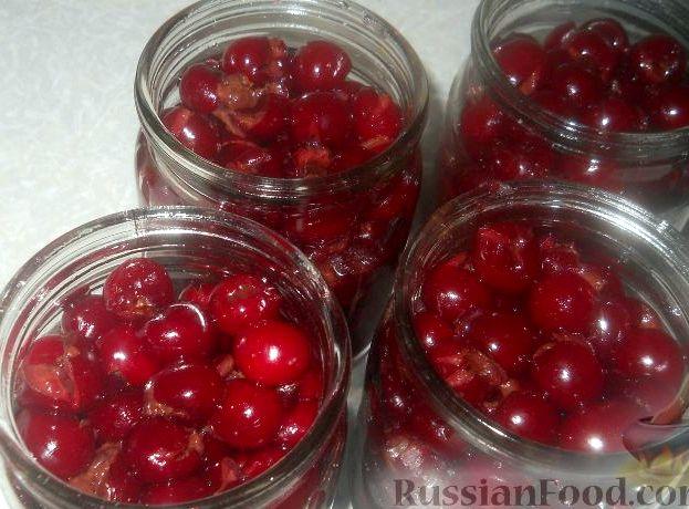 Рецепт вишни без косточек в собственном соку