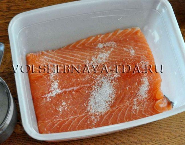 Рецепт засолки красной рыбы в домашних условиях с фото