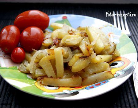 Рецепт жареной картошки на сковороде